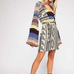 NWT Free People Patchwork Sweater Dress Sz Xsmall